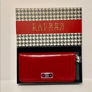 Lauren Ralph Lauren Chiswell's Zip Wallet, Red